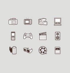 Photo and video icons vector image vector image