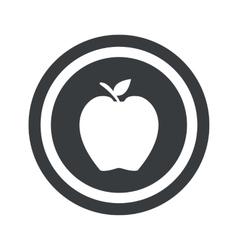 Round black apple sign vector