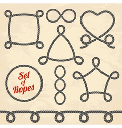 Set of ropes vector image vector image