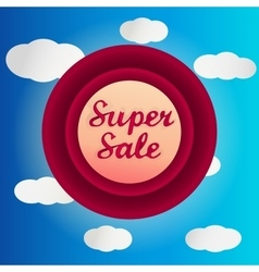 Super sale circle label vector image