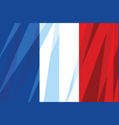 the national flag of france vector image vector image