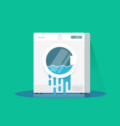 Washing machine broken flat vector