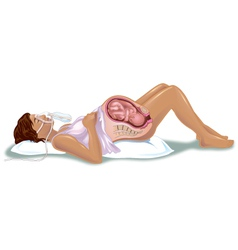 Women giving birth vector