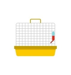 Animal cage icon in flat style vector