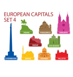 European capitals vector