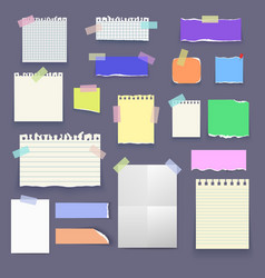 Set of paper poster mockup notes banners vector image