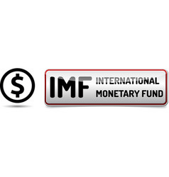 imf international monetary fund world bank vector image