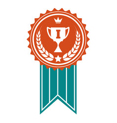 Winner colorful award badge vector