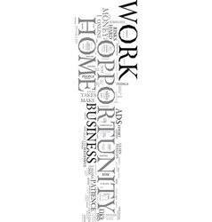 Work at home opportunity text word cloud concept vector