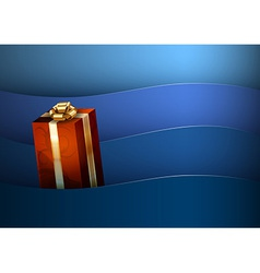 red gift vector image
