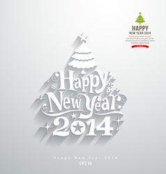 Happy new year lettering paper cut design vector image