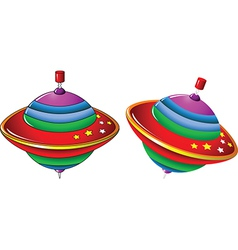 Color whirling toy vector image