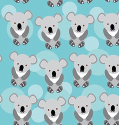 Koala seamless pattern with funny cute animal on a vector