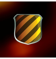 Shields in hazard black and yellow stripes eps 8 vector
