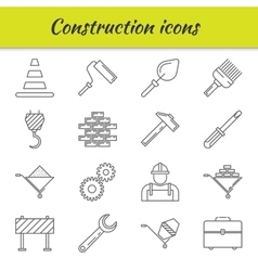 Outline icons set construction vector