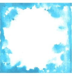 Blue paint grunge frame vector