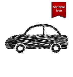 Car icon scribble icon for you design vector