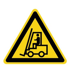 Forklift truck sign vector