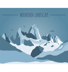 Mountain landscape graphic template vector