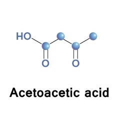 Acetoacetic acid structure vector image vector image