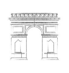 Arc de triomphe paris icon image vector