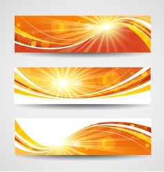 Autumn banners set vector image vector image