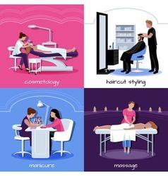 Beauty salon people concept vector