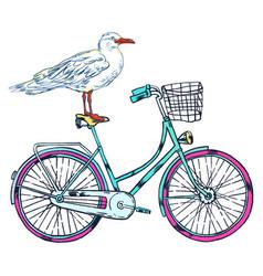 Bike gull super summer vector
