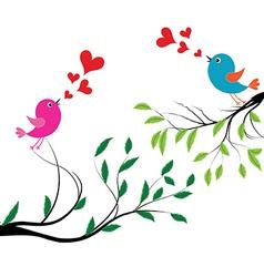 Bird with love of a birds wedding vector