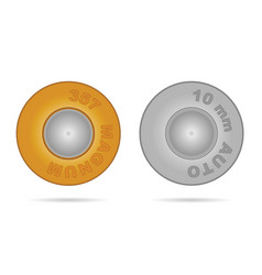 Bullet in gold and silver color vector