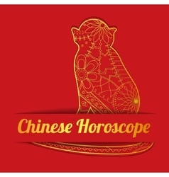 Chinese horoscope background with goldenmonkey vector