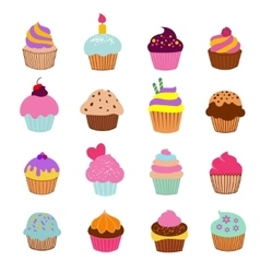 Cupcakes vanilla chocolate vector