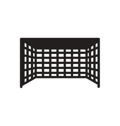 Flat icon in black and white football goal vector