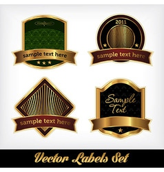Golden Labels vector image vector image