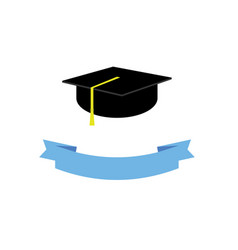 Graduate hat concept graduation from university vector