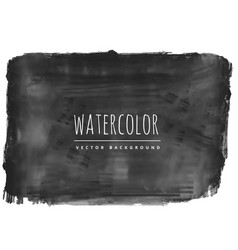 Grungy black watercolor stain background vector