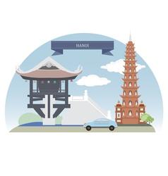 Hanoi vector image vector image