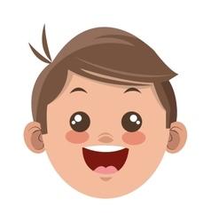 happy boy cartoon icon vector image