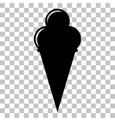 Ice Cream sign Flat style black icon on vector image vector image