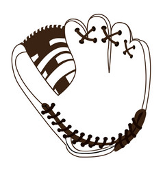 Isolated baseball gloves vector