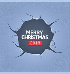 Merry christmas 2018 vector