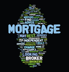 Mortgage brokers best service tips text vector