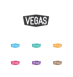 Of game symbol on vegas icon vector