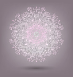 ornamental lace pattern circle handmade lace vector image