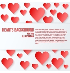 Red romantic hearts background vector
