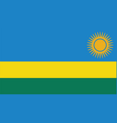 Rwanda flag for independence day and infographic vector