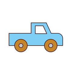 safari van of plato isolated icon vector image vector image