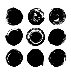 Silhouette ink spots on a white background vector