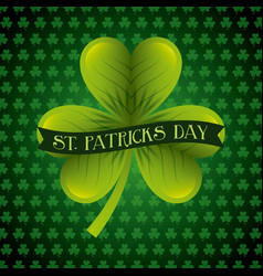 St patricks day card green clover banner vector