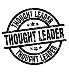 Thought leader round grunge black stamp vector